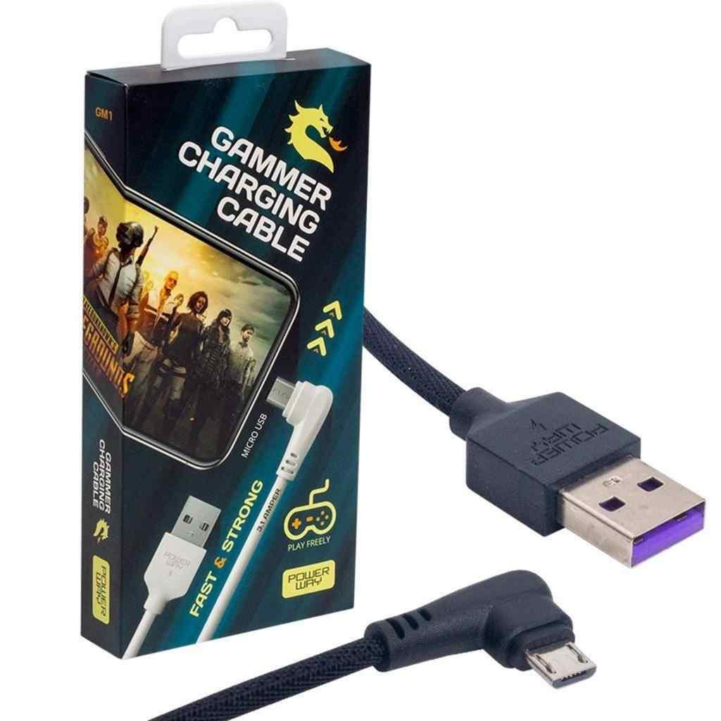 Powerway GM1 USB 3.1 Amper Örgülü Samsung Gaming Oyuncu Kablosu