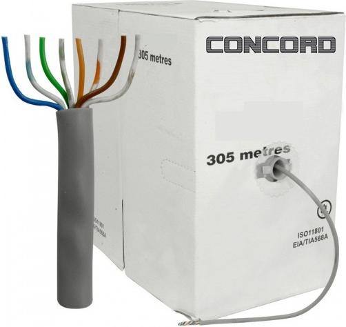 Concord C-527 305m Metre 23awg CAT6 Kablo Ethernet İnternet Kablo
