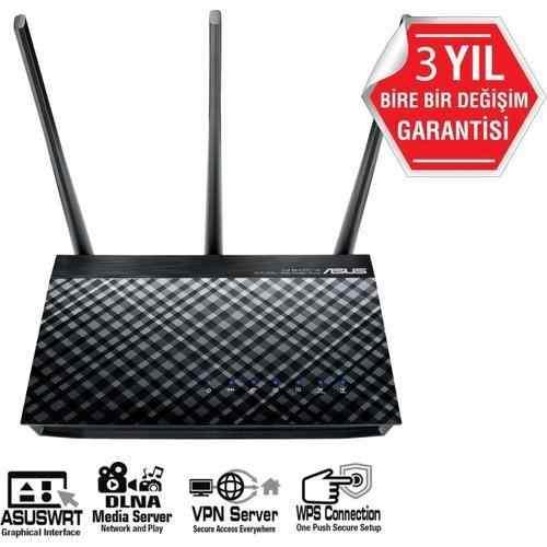 ASUS DSL-AC51  DualBand-Ebeveyn Kontrol Destekli-DLNA-VPN-ADSL-VDSL-FiBER-Modem Router