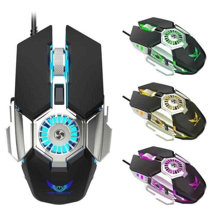 J-Tech® Hurricane RGB Işıklı FANLI Ayalarlanabilir 6400 DPI  Gaming Oyuncu Mouse 10974