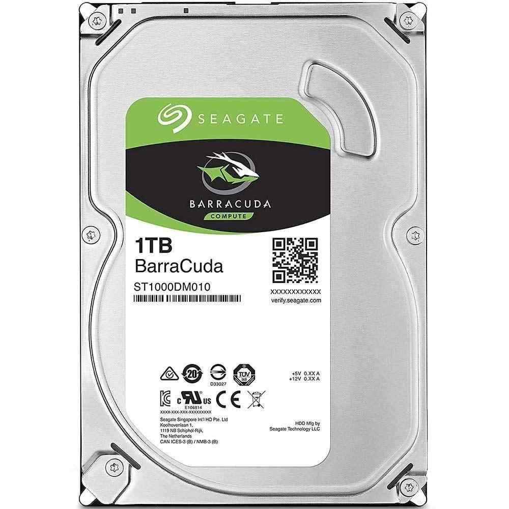 Seagate BARRACUDA 3.5 1TB Sata 3.0 64MB 5400RPM Güvenlik Diski 7x24 ST1000DM010