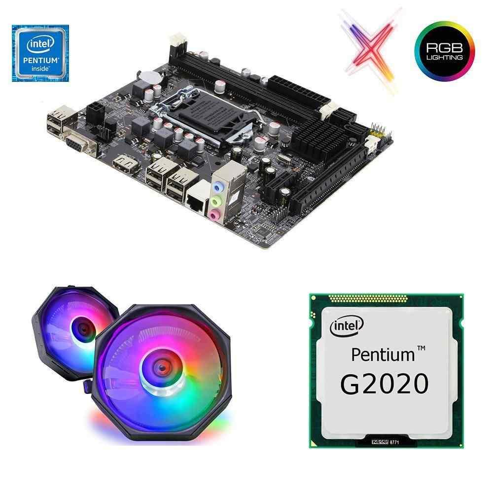 Intel Pentium G2020 + H61C Anakart 1155pin + Rainbow CPU Fan