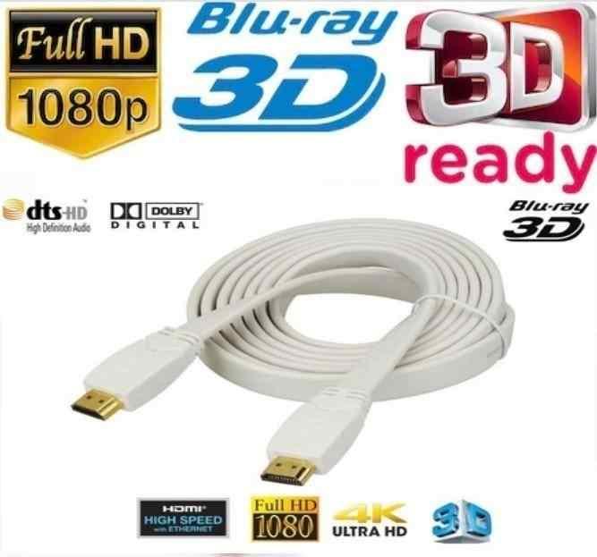 1.5M METRE HDM-I KABLO ALTIN UÇLU HD FLAT KABLO 3D FULL HD