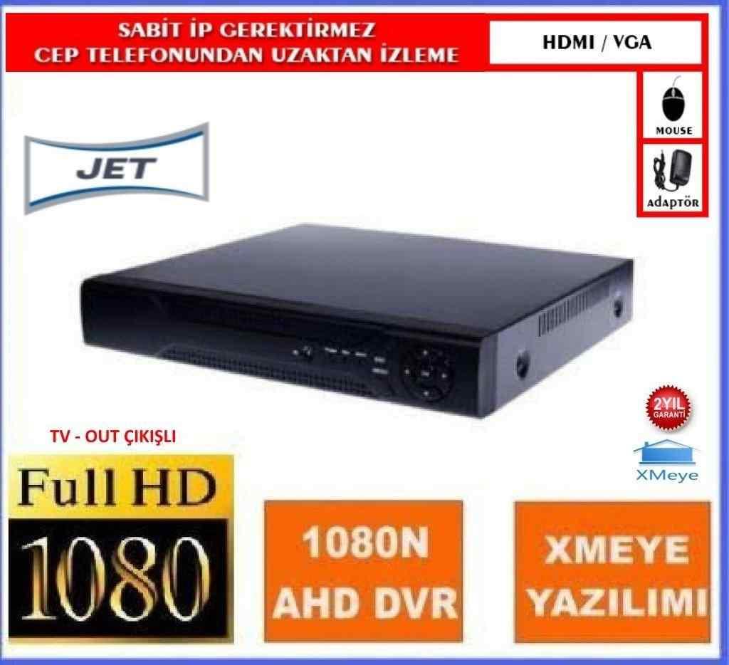 8 Kanal 1080P AHD ( 5 in 1 ) XVR Hybird Xmeye | JET JT-8008