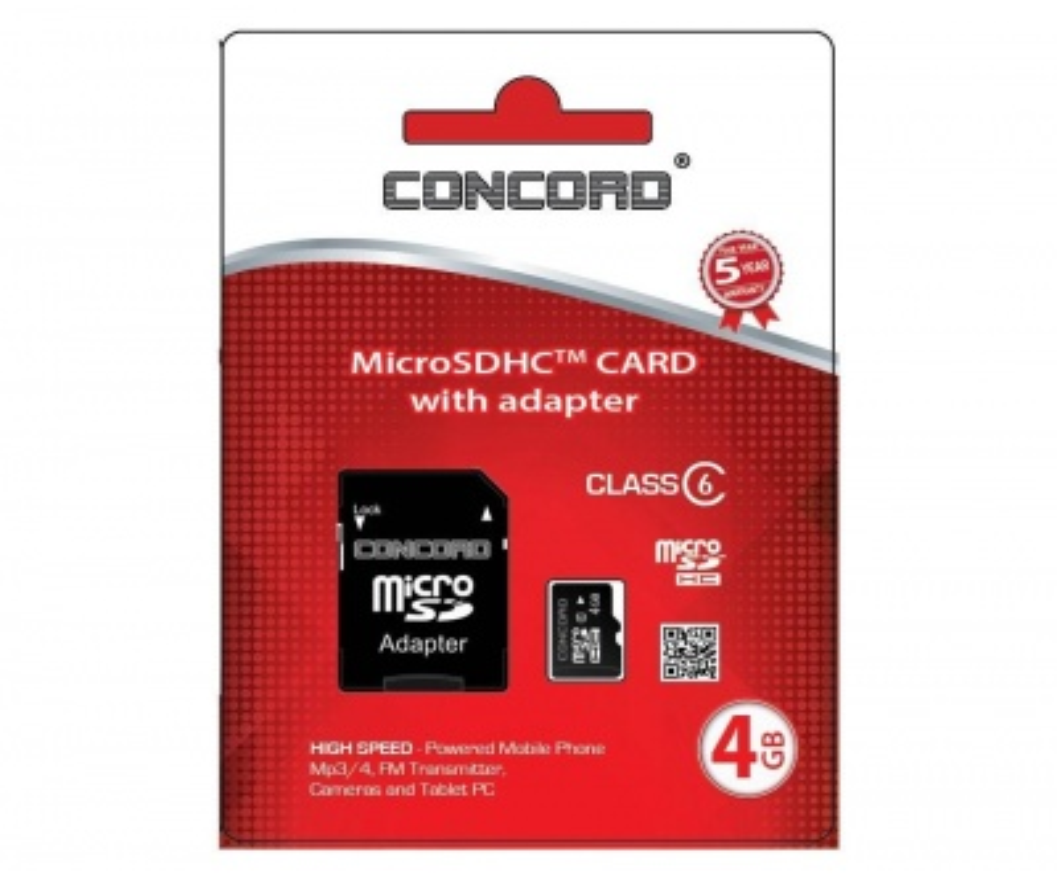 4 GB Hafıza Kartı | Concord C-M4 High Speed