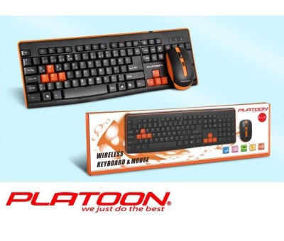 PLATOON PL-378 GAMİNG OYUNCU WIRELESS KLAVYE&MOUSE SET
