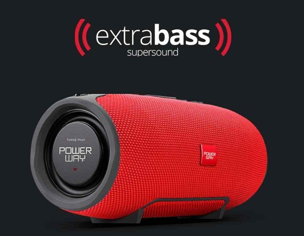 Powerway WRX08 Bluetooth Kablosuz Hoparlör Xtreme Extra Bass