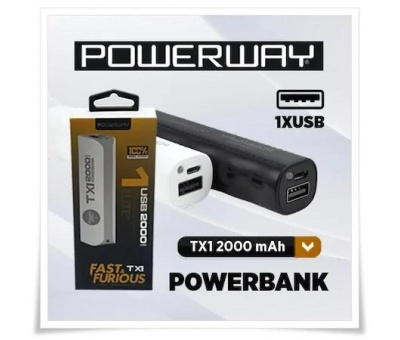 POWERWAY TX1 2000 MAH POWERBANK BEYAZ