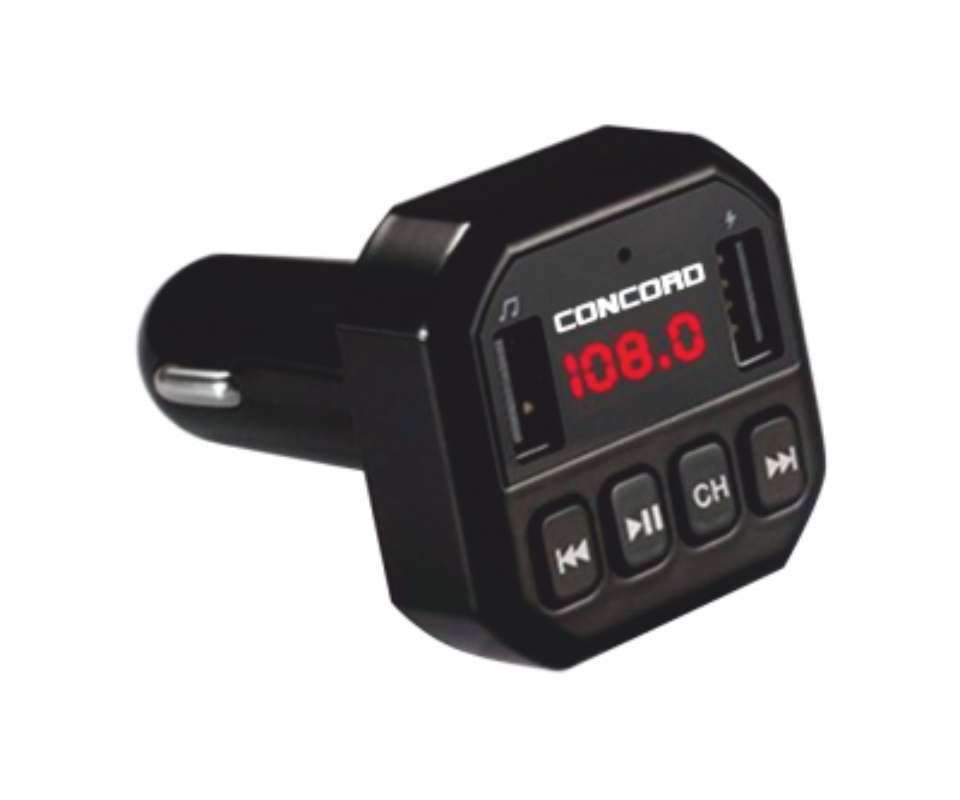 Concord C-608 |3.1A Çift USB| TF | BT | FM Transmitter