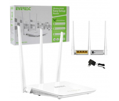 Everest EWR-F303 2.4GHz 300Mbps 1 Wan + 3 Lan Portlu Wireless Router