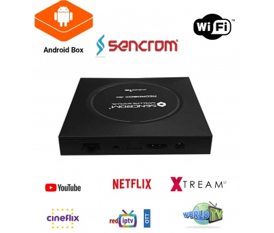 Sencrom Redro Box 4K Android Tv Box 2GB Ram 16GB Hafıza v.9.0