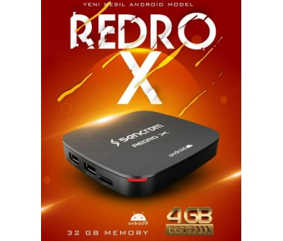 Sencrom Redro X 4K Android Tv Box 4GB Ram 32GB Hafıza