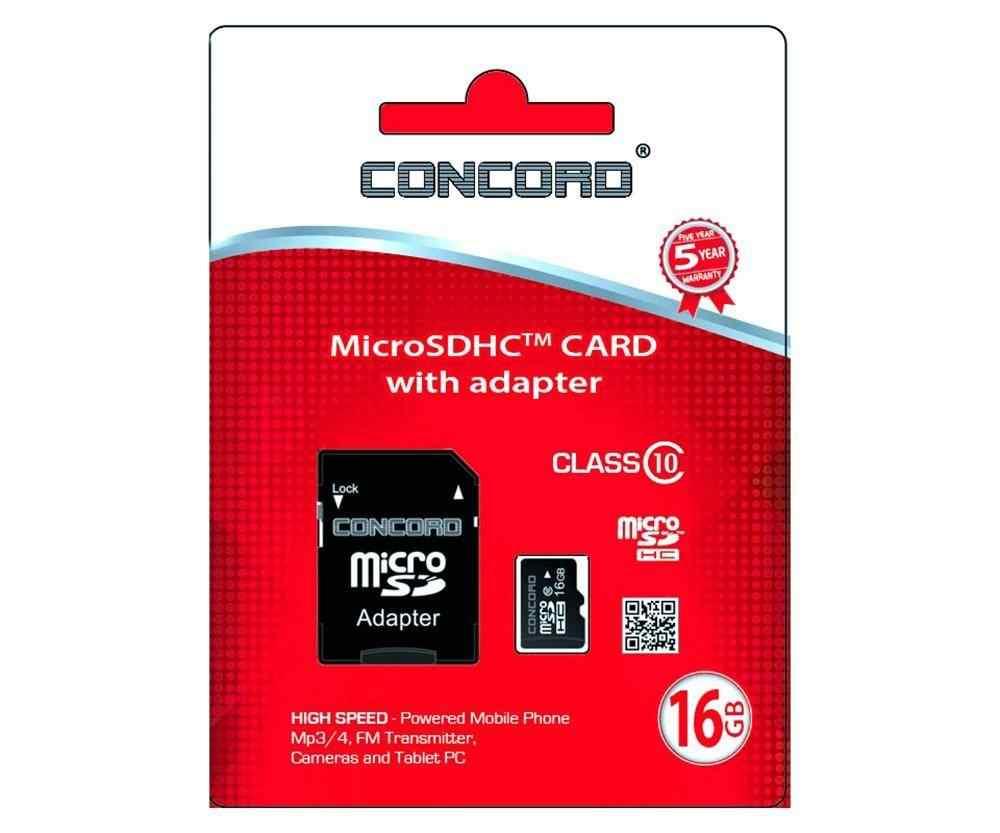 Concord 16 GB 10 MBps Hız Micro SDHC Hafıza Kartı + Adaptör (C-M16)