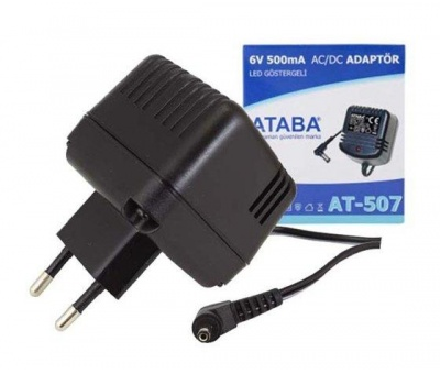 ATABA AT-507 ADAPTÖR 6V 500MA AC/DC SIEMENS PHILIPS 3.5X1.35 MM
