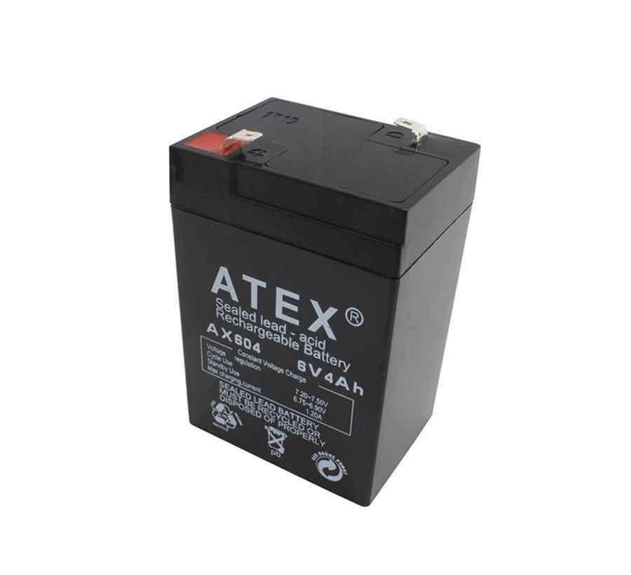 ATEX 6 Volt 4 AH Kuru Akü A Class 6v 4AH
