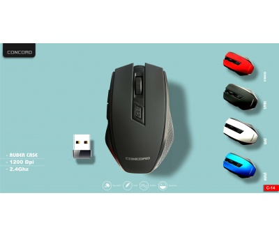 Concord | C-14 | Wireless Kablosuz 6D Mouse 1200 DPi
