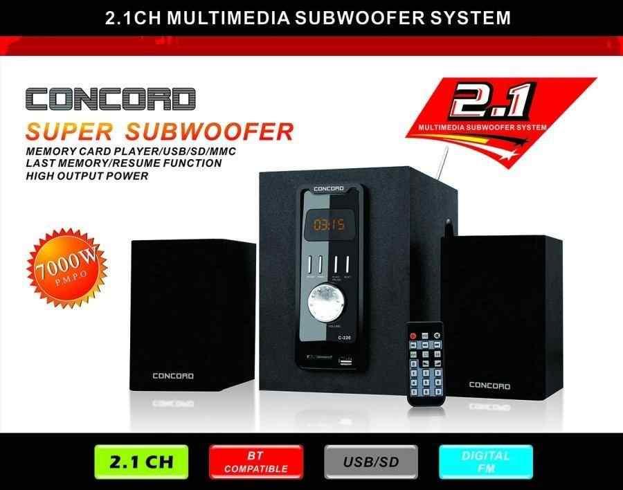 Concord C-220 | BT | TF | USB | FM | 2+1 Ses Sistemi Bass Tiz Multimedia