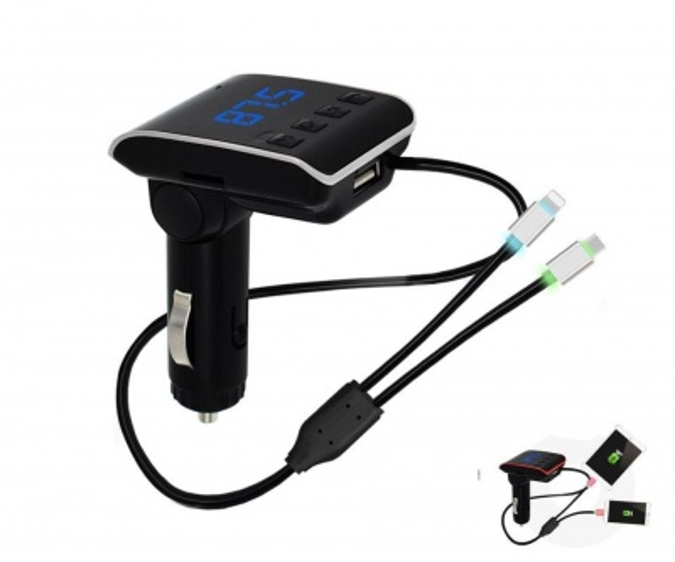 Concord C-605 | 2.1A Çift USB| TF | BT | FM Transmitter