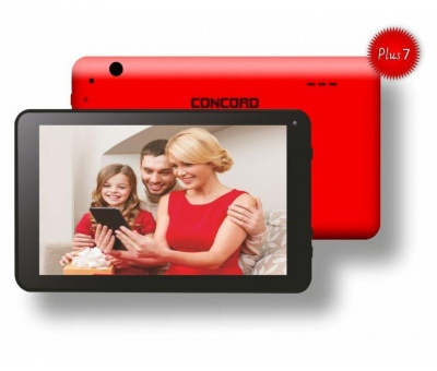Concord C-777 Plus7 | 7 İNÇ HD | 1 GB | 16 GB Tablet PC  I  Kırmızı