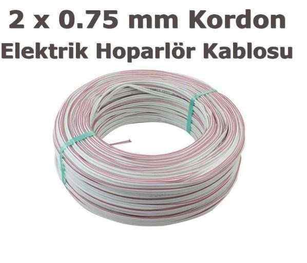 ERK YERLİ 100 METRE HOPARLÖR KABLOSU KORDON 2X0.75 SİYAH