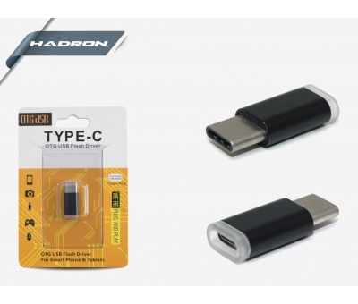 HADRON HD4419  TYPE-C MİCRO TO USB ÇEVİRİCİ KUTULU METAL