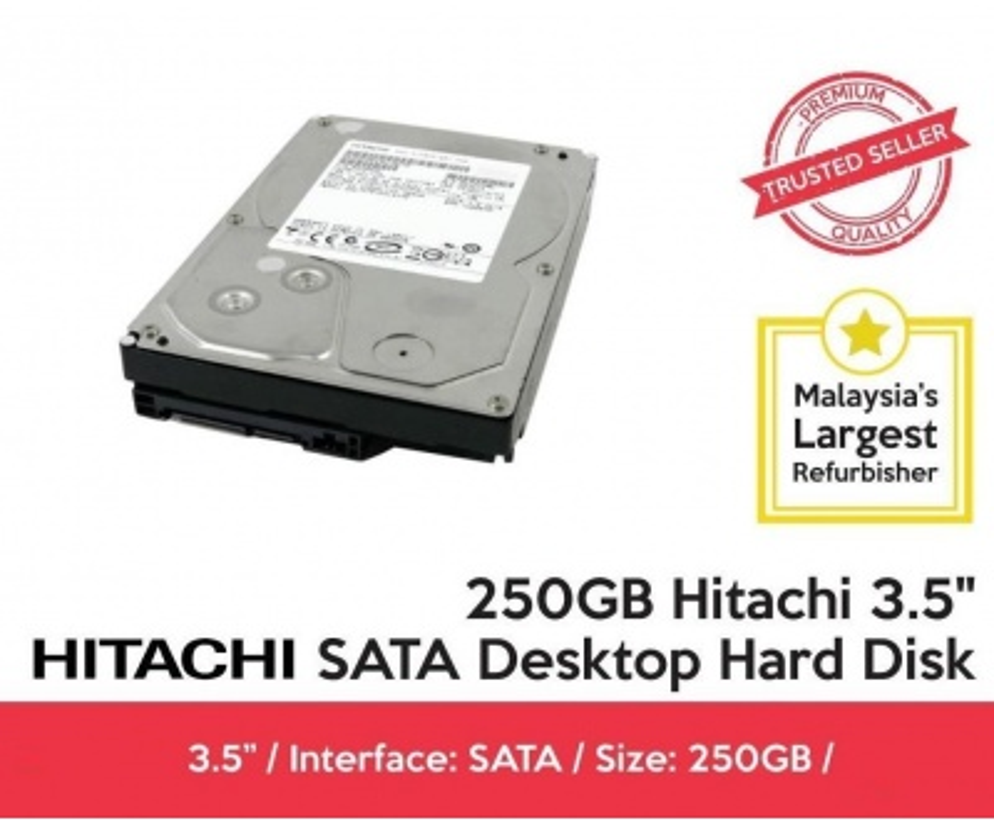 HITACHI 250GB 7200 RPM 8MB SATA 3.0 3.5