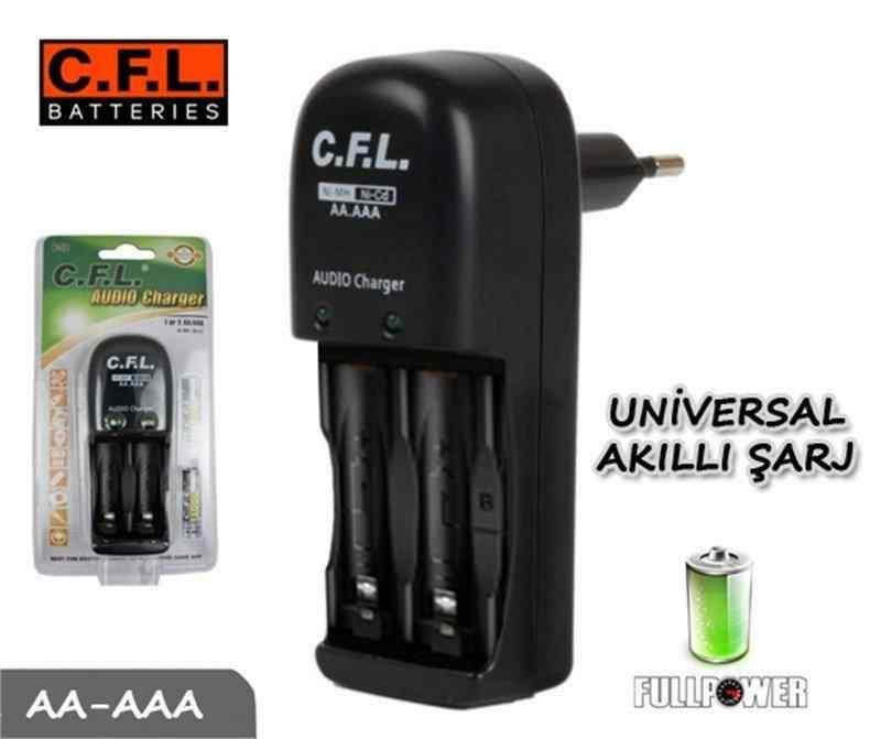 PİL ŞARJ ALETİ İKİLİ AA-AAA CFL V-120