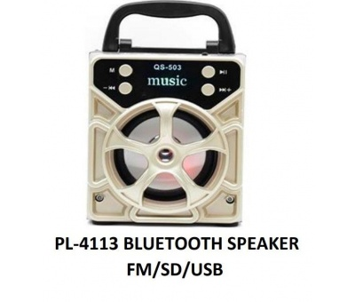 PLATOON PL-4113 IŞIKLI FM/SD/USB BLUETOOTH SPEAKER