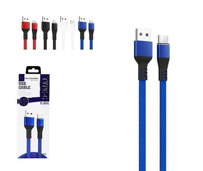 PLATOON PL-8846 TYPE-C SLİM USB ŞARJ KABLO
