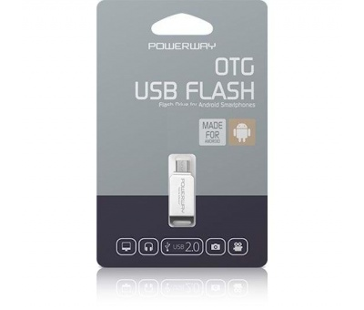 POWERWAY 64GB OTG METAL USB 2.0 FLASH BELLEK PO-64GB