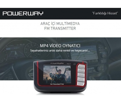 POWERWAY MP4 PLAYER  FM-17 | FM TRANSMITTER 2GB DAHİLİ HAFIZA
