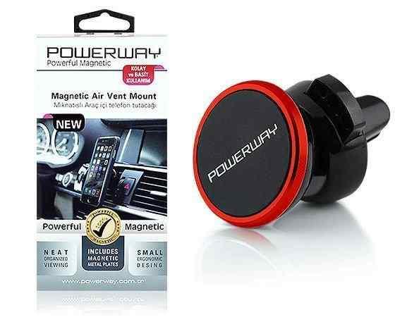 Powerway TT-02 Ekstra Güçlü Mıknatıslı Araç İçi Telefon Tutacağı
