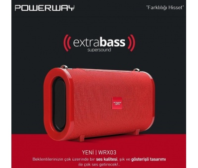 POWERWAY  WRX03 | BLUETOOTH SPEAKER HÖPARLÖR EXTRA BASS