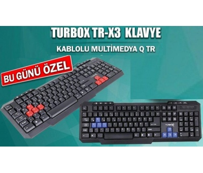 Turbox TR-X3B Multimedia Oyuncu Gaming Klavye