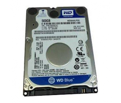 Wd Blue 2.5inch 500GB 5400RPM SATA 16MB Notebook Harddisk