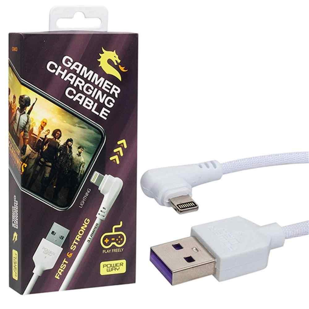 Powerway GM3 USB 3.1 Amper Örgülü iphone Gaming Oyuncu Kablosu