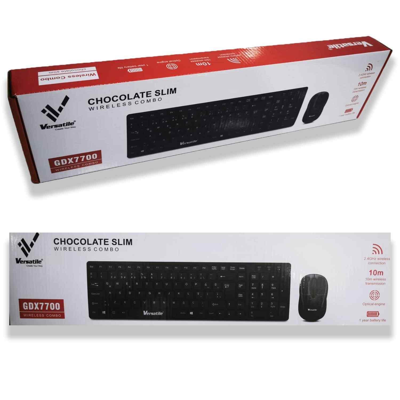 Versatile GDX7700 Kablosuz Chocolate Slim Q Klavye Mouse