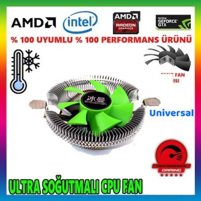 Snowman M800 Universal LGA775/1151/1155/1156/AM2/ AM3 CPU Fan