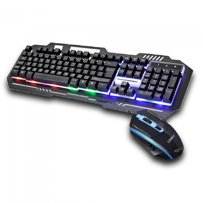 Gaming Oyuncu Klavye Mouse Gökkuşağı Led Gamer Set HD863M1