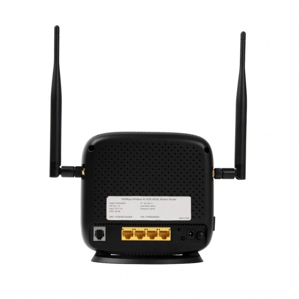 KRN DS224WSU 300Mbps Wi-Fi VDSL2 + ADSL2 Fiber Modem Router