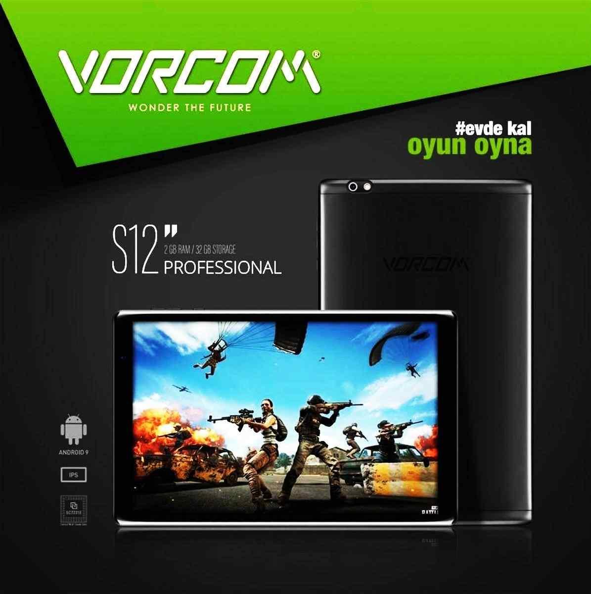 Vorcom S12 2 Gb 32 Gb 10.1 iPS Tablet Bilgisayar -Siyah