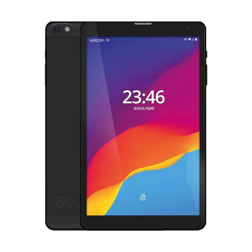 Vorcom S8 PRO 4 Gb 64 Gb 8 iPS Tablet Bilgisayar -Siyah