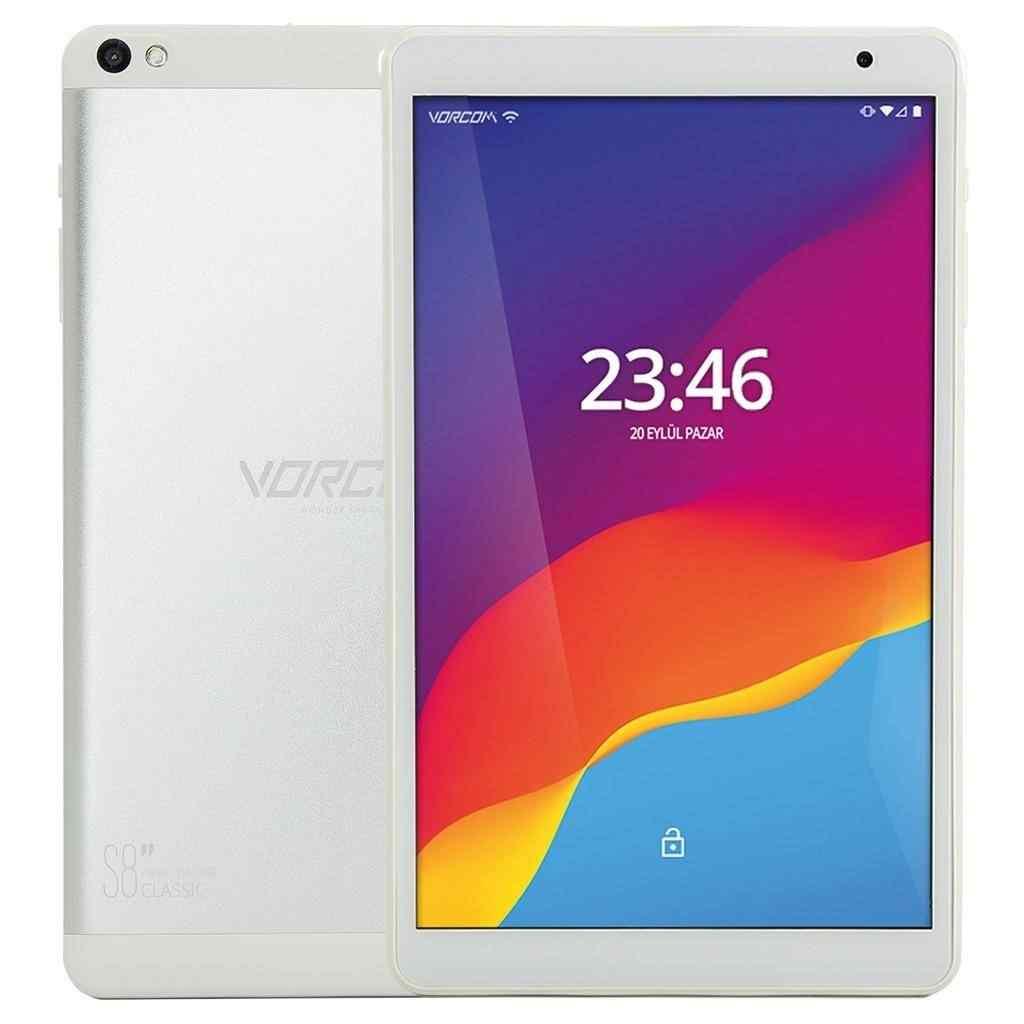 Vorcom S8 2 Gb 32 Gb 8 iPS Tablet Bilgisayar -Beyaz Gümüş