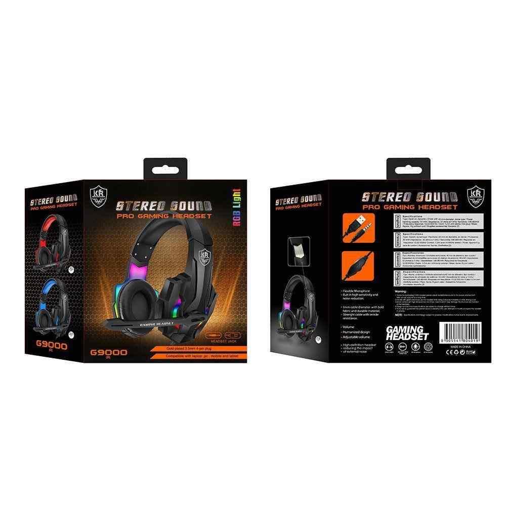 KR M9000 Led Işıklı Surround USB Mikrofonlu Oyuncu Kulaklığı