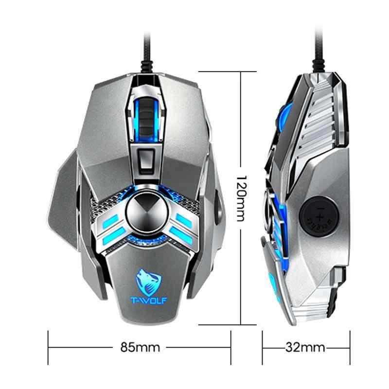 J-Tech® Avenger RGB Işıklı Ayalarlanabilir 6400 DPI Macro Gaming Oyuncu Mouse 10953
