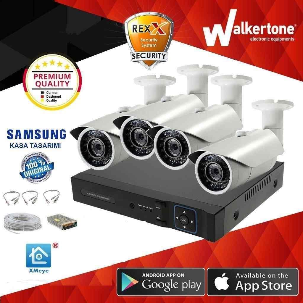 4 KAMERALI   2.0 MP SONY LENS 1080N AHD XMeye KOMPLE SET JT-01