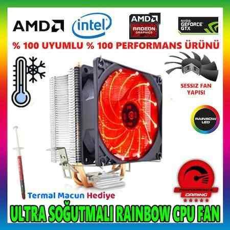 Snowman M200 Kırmızı Ledli Universal Cpu Fan Amd /intel